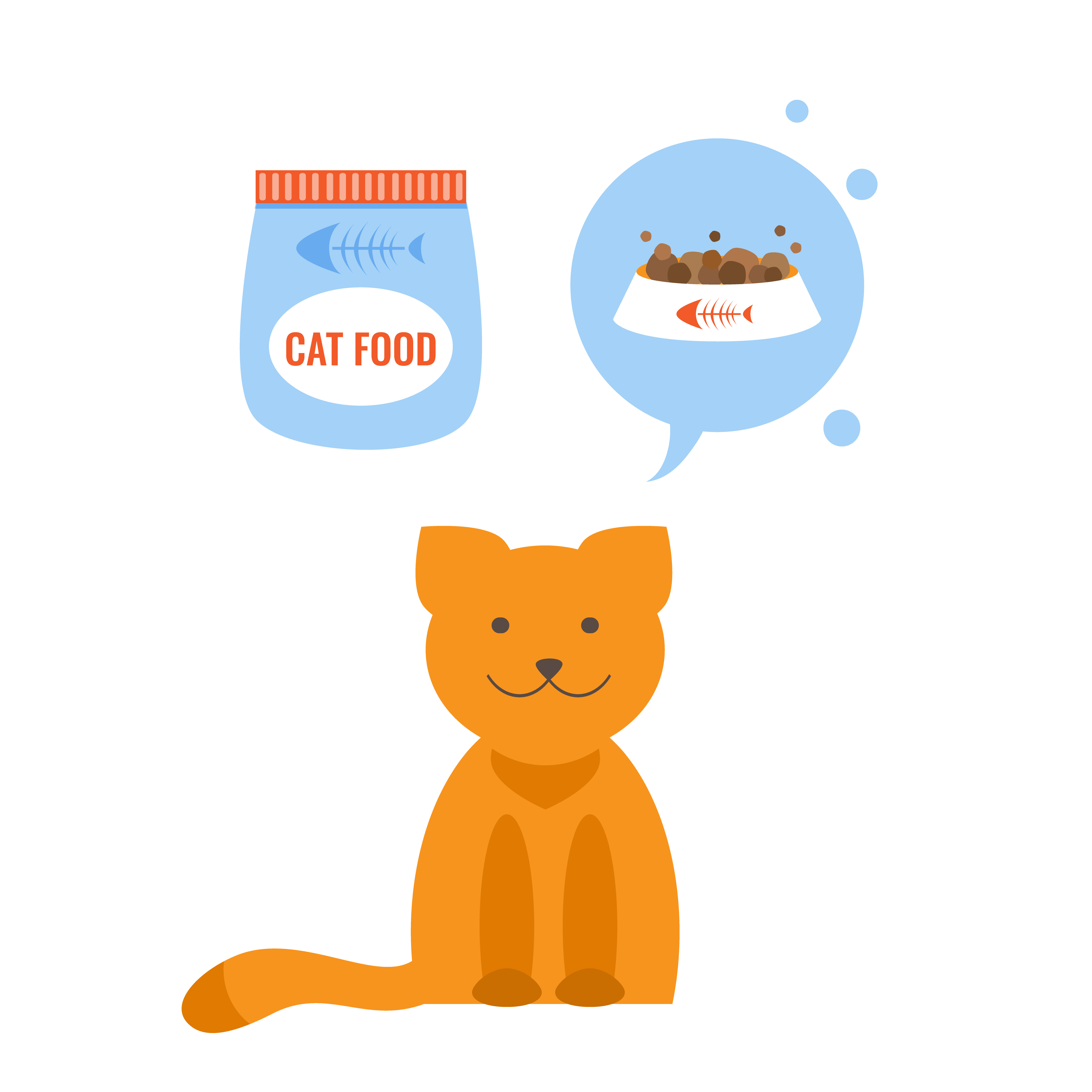 A ginger cat thinking about his favorite food options