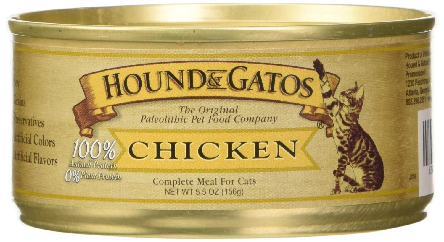 A picture of Hound & Gatos, which is a best cat food