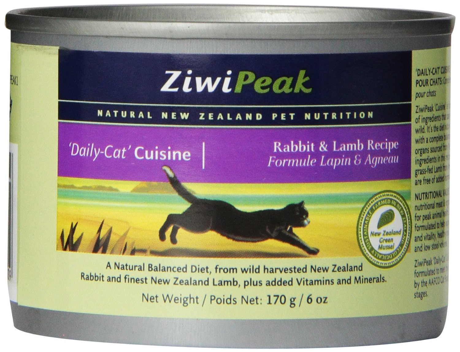 An image of Ziwipeak Canned Cat Food which is considered a best cat food